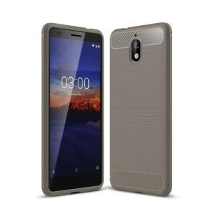 Θήκη Nokia 3.1 OEM Brushed TPU Carbon Πλάτη γκρι