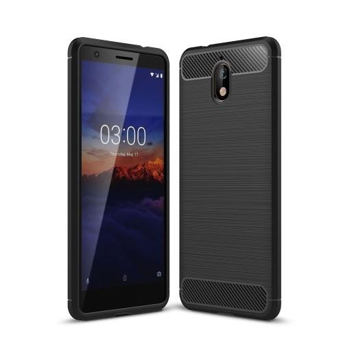 Θήκη Nokia 3.1 OEM Brushed TPU Carbon Πλάτη μαύρο