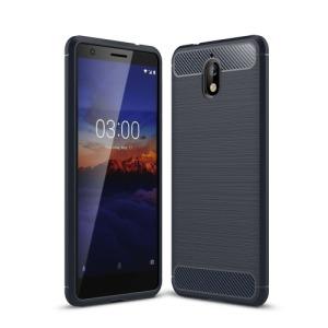 Θήκη Nokia 3.1 OEM Brushed TPU Carbon Πλάτη μπλε