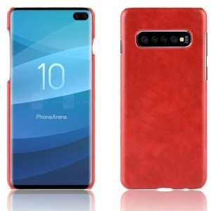 Θήκη Samsung Galaxy S10 Plus LITCHI Litchi Skin Leather Plastic Series Πλάτη δερματίνη κόκκινο