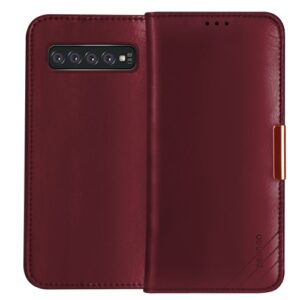 Θήκη Samsung Galaxy S10 Plus DZGOGO Royale Series II Genuine Leather Flip Wallet δερμάτινη κόκκινο