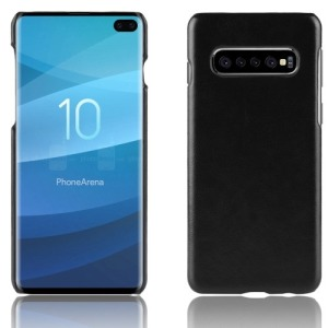 Θήκη Samsung Galaxy S10 Plus LITCHI Litchi Skin Leather Plastic Series Πλάτη δερματίνη μαύρο