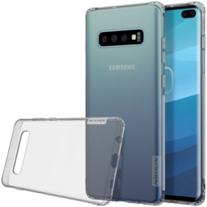 Θήκη Samsung Galaxy S10 Plus NiLLkin Nature Series 0.6mm Πλάτη διάφανη γκρι