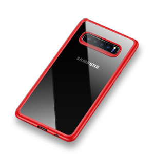 Θήκη Samsung Galaxy S10 Plus USAMS Mant Series TPU Edge hybrid Transparent Πλάτη TPU κόκκινο