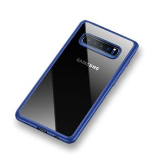 Θήκη Samsung Galaxy S10 Plus USAMS Mant Series TPU Edge hybrid Transparent Πλάτη TPU μπλε