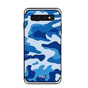 Θήκη Samsung Galaxy S10 Plus NXE Camouflage Series Πλάτη TPU μπλε