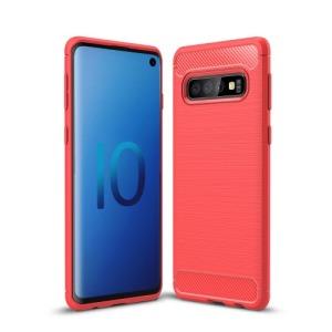 Θήκη Samsung Galaxy S10 OEM Brushed TPU Carbon Πλάτη ανοιχτό κόκκινο