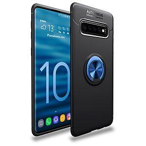 Θήκη Samsung Galaxy S10 OEM Magnetic Ring Kickstand Πλάτη TPU μαύρο / μπλε