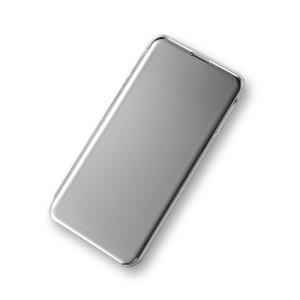 Θήκη Samsung Galaxy S10e OEM Mirror Surface View Stand Case Cover Flip Window από σκληρό πλαστικό ασημί
