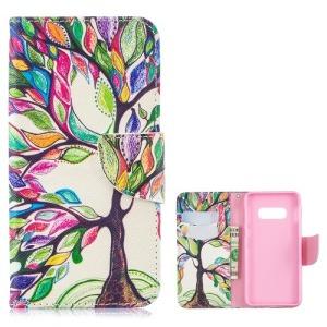 Θήκη Samsung Galaxy S10e OEM σχέδιο Colorized Tree με βάση στήριξης