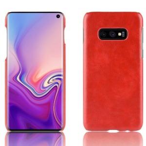 Θήκη Samsung Galaxy S10e OEM Litchi Skin Leather Plastic Series Πλάτη δερματίνη κόκκινο