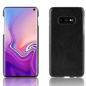 Θήκη Samsung Galaxy S10e OEM Litchi Skin Leather Plastic Series Πλάτη δερματίνη μαύρο