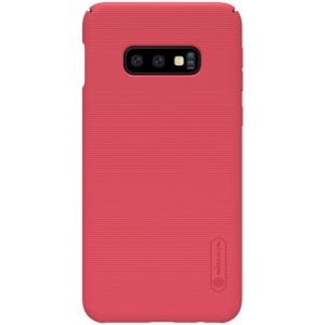 Θήκη Samsung Galaxy S10e NiLLkin Super Frosted Shield Series Πλάτη από σκληρό πλαστικό κόκκινο