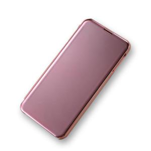 Θήκη Samsung Galaxy S10e OEM Mirror Surface View Stand Case Cover Flip Window από σκληρό πλαστικό ροζ χρυσό