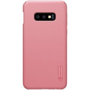 Θήκη Samsung Galaxy S10e NiLLkin Super Frosted Shield Series Πλάτη από σκληρό πλαστικό ροζ χρυσό