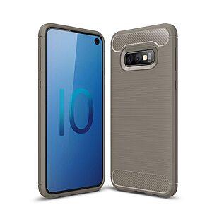 Θήκη Samsung Galaxy S10e OEM Brushed TPU Carbon Πλάτη γκρι