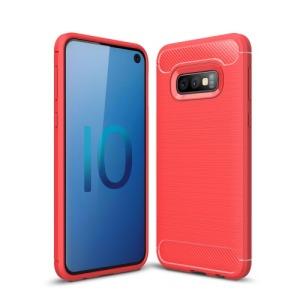 Θήκη Samsung Galaxy S10e OEM Brushed TPU Carbon Πλάτη ανοιχτό κόκκινο