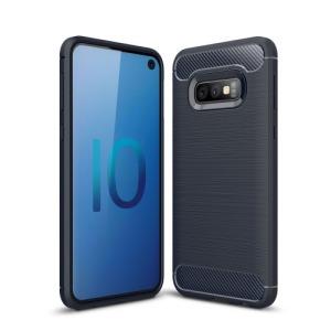 Θήκη Samsung Galaxy S10e OEM Brushed TPU Carbon Πλάτη μπλε