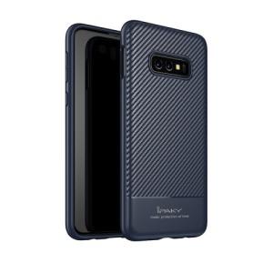 Θήκη Samsung Galaxy S10e IPAKY Carbon Fiber Πλάτη TPU μπλε