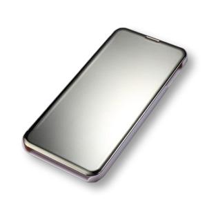 Θήκη Samsung Galaxy S10e OEM Mirror Surface View Stand Case Cover Flip Window από σκληρό πλαστικό ασημί / χρυσό