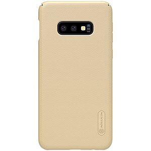 Θήκη Samsung Galaxy S10e NiLLkin Super Frosted Shield Series Πλάτη από σκληρό πλαστικό χρυσό