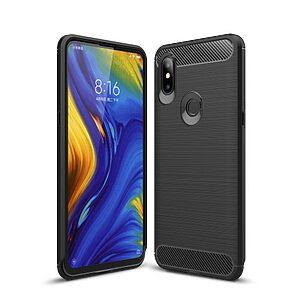 Θήκη Xiaomi Mi Mix 3 OEM Brushed TPU Carbon Πλάτη μαύρο