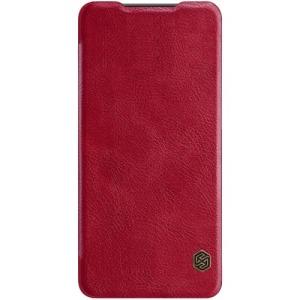 Θήκη Huawei P30 NiLLkin Qin Series με υποδοχή για κάρτες Flip Wallet δερματίνη κόκκινο