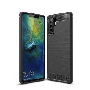 Θήκη Huawei P30 Pro OEM Brushed TPU Carbon Πλάτη μαύρο