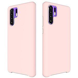 Θήκη Huawei P30 Pro OEM Soft Liquid Silicone Πλάτη TPU ροζ
