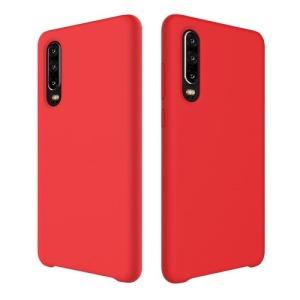 Θήκη Huawei P30 OEM Soft Liquid Silicone Πλάτη TPU κόκκινο