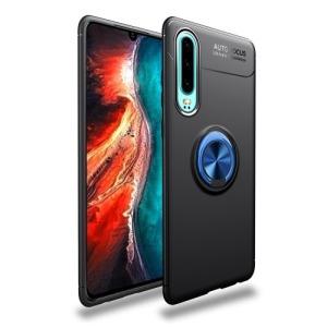 Θήκη Huawei P30 LENUO Magnetic Ring Kickstand / Μαγνητικό δαχτυλίδι / Βάση στήριξης Πλάτη TPU μαύρο / μπλε