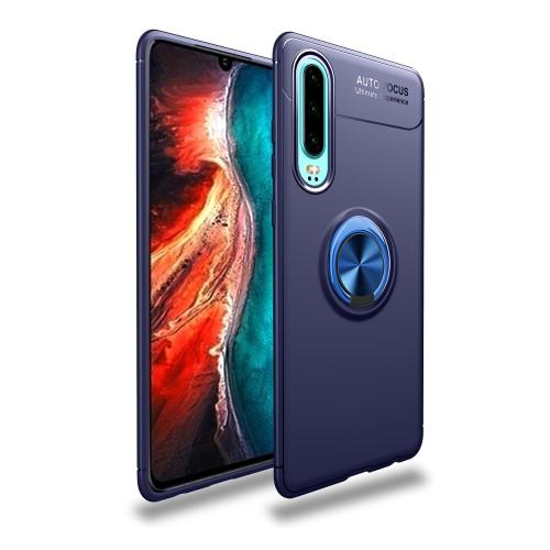 Θήκη Huawei P30 LENUO Magnetic Ring Kickstand / Μαγνητικό δαχτυλίδι / Βάση στήριξης Πλάτη TPU μπλε