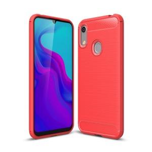 Θήκη Huawei Y6 (2019) OEM Brushed TPU Carbon Πλάτη κόκκινο ανοιχτό
