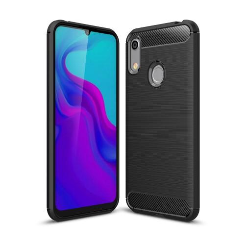 Θήκη Huawei Y6 (2019) OEM Brushed TPU Carbon Πλάτη μαύρο