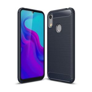 Θήκη Huawei Y6 (2019) OEM Brushed TPU Carbon Πλάτη μπλε σκούρο