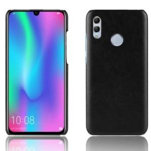 Θήκη Huawei Y7 (2019) / Y7 Prime (2019) OEM Litchi Skin Leather Plastic Series Πλάτη από σκληρό πλαστικό με επένδυση δερματίνης μαύρο