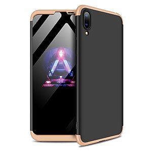 Θήκη Huawei Y7 Pro (2019) GKK Full body Protection 360° από σκληρό πλαστικό μαύρο / χρυσό
