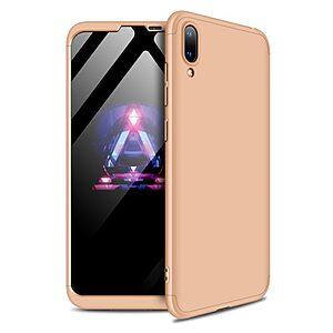 Θήκη Huawei Y7 Pro (2019) GKK Full body Protection 360° από σκληρό πλαστικό χρυσό
