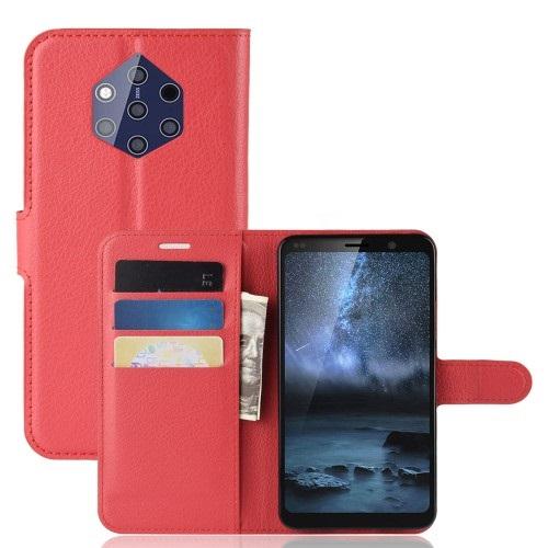 Θήκη Nokia 9 PureView OEM Litchi Texture Leather με βάση στήριξης