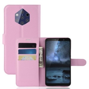 Θήκη Nokia 9 PureView OEM Litchi Texture Leather με βάση στήριξης