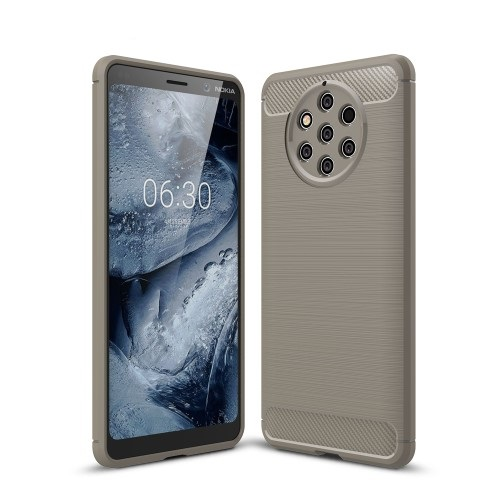 Θήκη Nokia 9 PureView OEM Brushed TPU Carbon Πλάτη γκρι