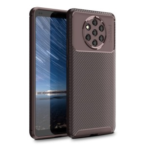 Θήκη Nokia 9 PureView OEM Airbag Carbon Series Πλάτη TPU καφέ