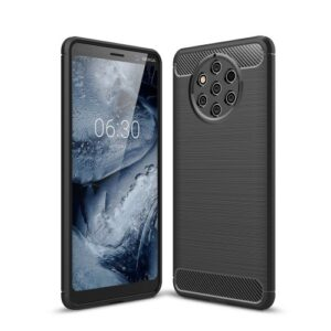 Θήκη Nokia 9 PureView OEM Brushed TPU Carbon Πλάτη μάυρο
