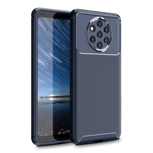 Θήκη Nokia 9 PureView OEM Airbag Carbon Series Πλάτη TPU μπλε