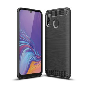 Θήκη Samsung Galaxy A40 OEM Brushed TPU Carbon Πλάτη μαύρο