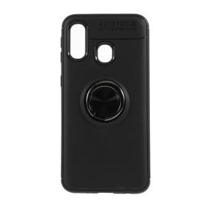 Θήκη Samsung Galaxy A40 OEM Magnetic Ring Kickstand / Μαγνητικό δαχτυλίδι / Βάση στήριξης Πλάτη TPU μαύρο
