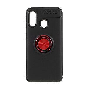 Θήκη Samsung Galaxy A40 OEM Magnetic Ring Kickstand / Μαγνητικό δαχτυλίδι / Βάση στήριξης Πλάτη TPU μαύρο / κόκκινο