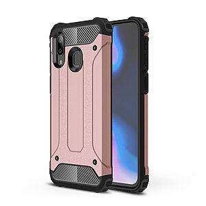 Θήκη Samsung Galaxy A40 OEM Armor Guard Hybrid Πλάτη από σκληρό πλαστικό και TPU ροζ χρυσό