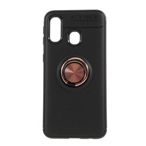Θήκη Samsung Galaxy A40 OEM Magnetic Ring Kickstand / Μαγνητικό δαχτυλίδι / Βάση στήριξης Πλάτη TPU ροζ χρυσό