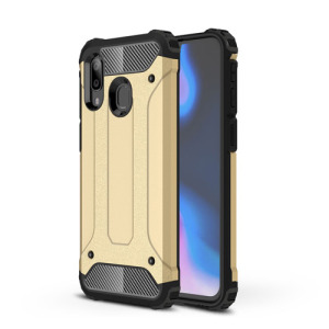 Θήκη Samsung Galaxy A40 OEM Armor Guard Hybrid Πλάτη από σκληρό πλαστικό και TPU χρυσό